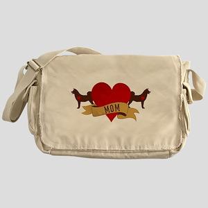 Akita Mom Messenger Bag