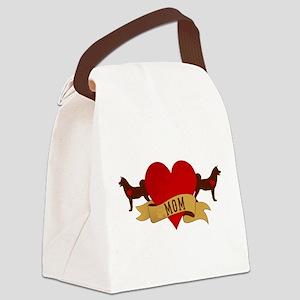 Akita Mom Canvas Lunch Bag