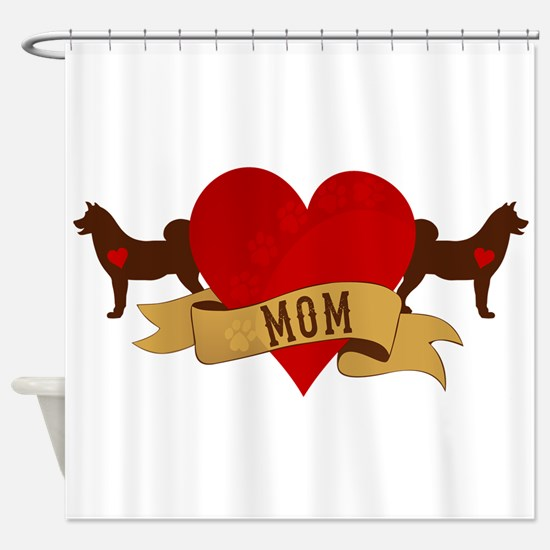 Akita Mom Shower Curtain