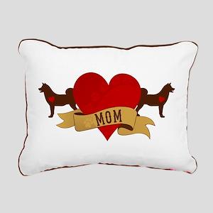 Akita Mom Rectangular Canvas Pillow