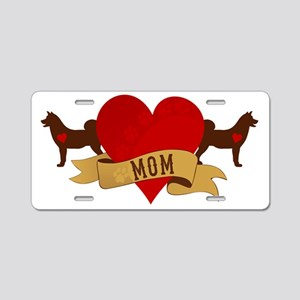 Akita Mom Aluminum License Plate