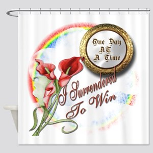 Surrender To Win Shower Curtain
