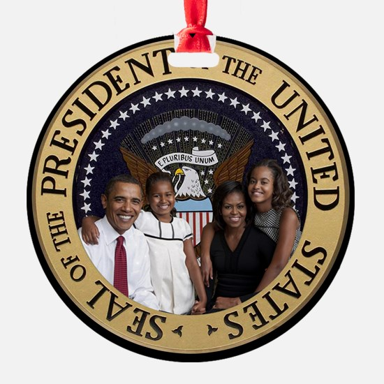 Obama First Family T SHirt Ornament
