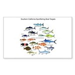 Southern California Sportfishing Targets Sticker