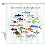 So. CA Sportfishing Targets Shower Curtains