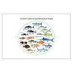 Southern California Sportfishing Targets Posters