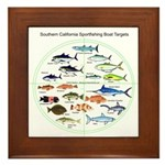 Southern California Sportfishing Targets Framed Ti