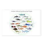 Southern California Sportfishing Targets Postcards