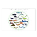 Southern California Sportfishing Targets Postcards