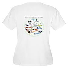 CF logo So. Ca. fishing Targets Plus Size shirt
