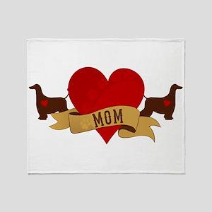 Afghan Hound Mom Throw Blanket
