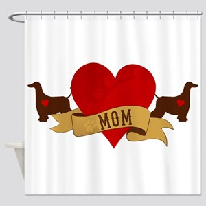 Afghan Hound Mom Shower Curtain