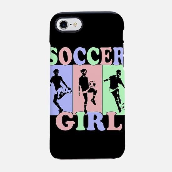 Cute Girls Soccer design iPhone 7 Tough Case