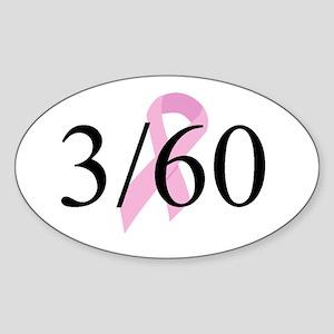 3 Day Team Oval Sticker