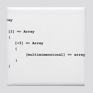 Multidimensional Arrays Tile Coaster