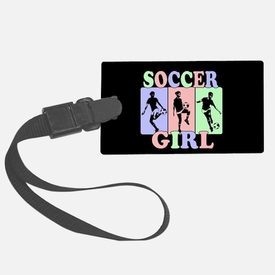 Cute Girls Soccer design Luggage Tag