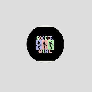 Cute Girls Soccer design Mini Button