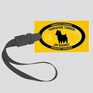 Yorkie On Board 2 Large Luggage Tag