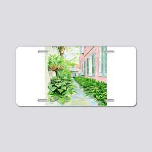 New Orleans Courtyard Aluminum License Plate
