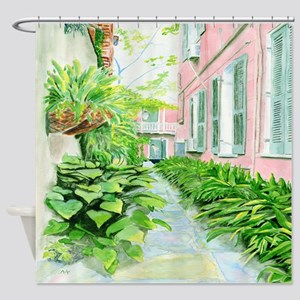 New Orleans Courtyard Shower Curtain