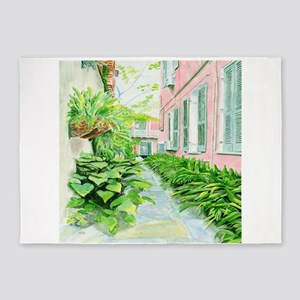 New Orleans Courtyard 5'x7'Area Rug
