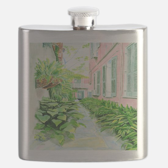 New Orleans Courtyard Flask