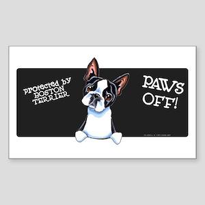 Boston Terrier Paws Off Sticker