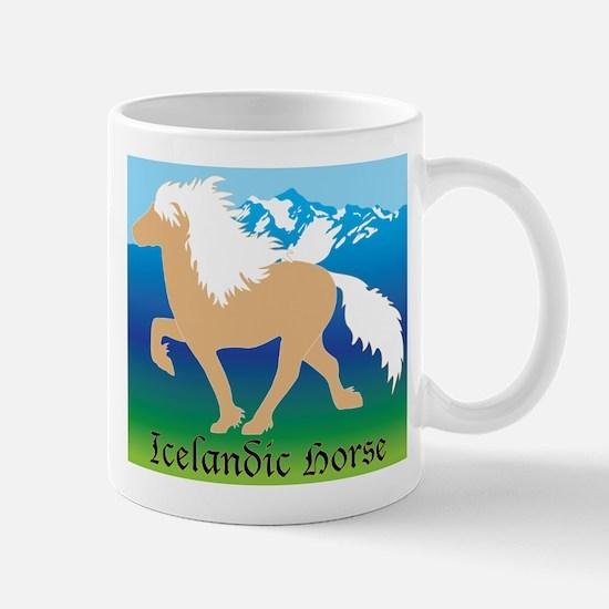 Palomino Icelandic horse in Iceland Mug