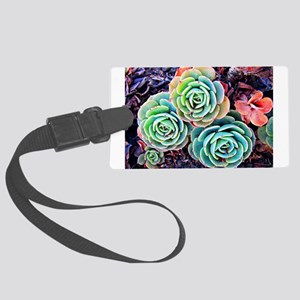 Succulents in the City Large Luggage Tag
