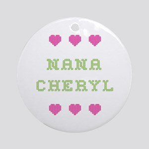 Nana Cheryl Round Ornament