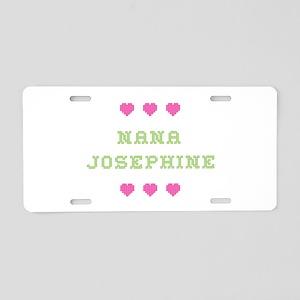 Nana Josephine Aluminum License Plate