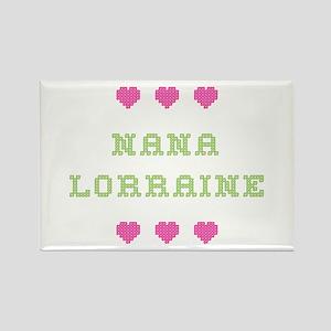 Nana Lorraine Rectangle Magnet