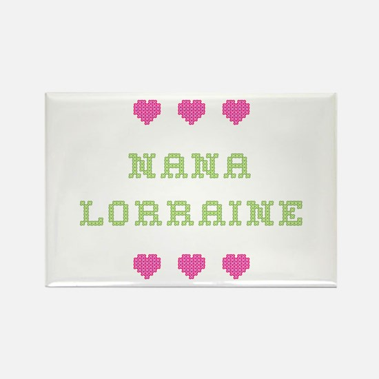 Nana Lorraine Rectangle Magnet
