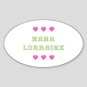 Nana Lorraine Oval Sticker