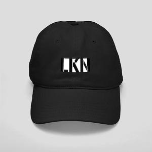 """LKN"" on Oval Patch on Black Cap"