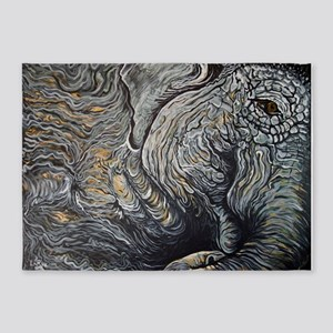 WakingElephant 5'x7'Area Rug