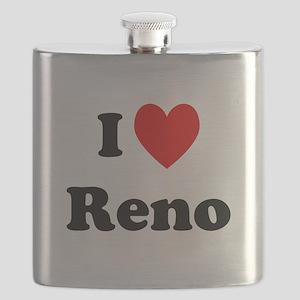 I Love Reno Flask