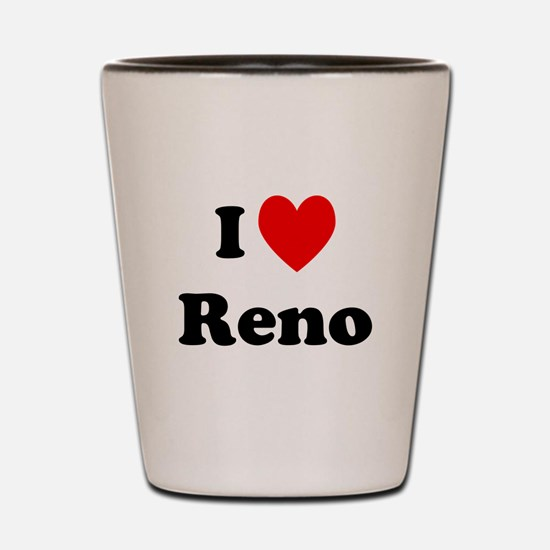 I Love Reno Shot Glass