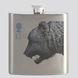 2006 England Ice Age Cave Bear Postage Stamp Flask