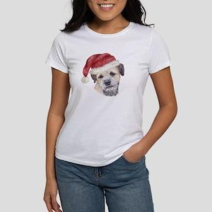 Christmas Border Terrier Women's T-Shirt