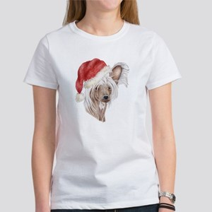 Christmas Chinese Crested dog Women's T-Shirt