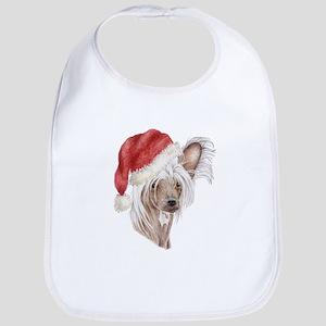 Christmas Chinese Crested dog Bib