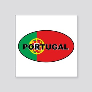 Portugal (PRT) Flag Oval Sticker