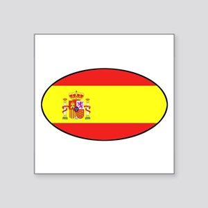 Spanish Flag Oval Sticker