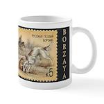 Borzoi-Borzaya Russian Stamp Mug