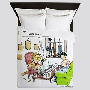 Hunting With Automatics Queen Duvet