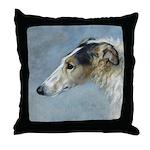 Borzoi Watercolor Portrait Pillow