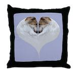Borzoi Heart Throw Pillow