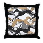 Leaping Fresco Hound Throw Pillow