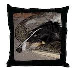 Sleeping Borzoi Throw Pillow